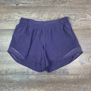 "Lululemon Hotty Hot Short size 8 4"" Viola Purple"
